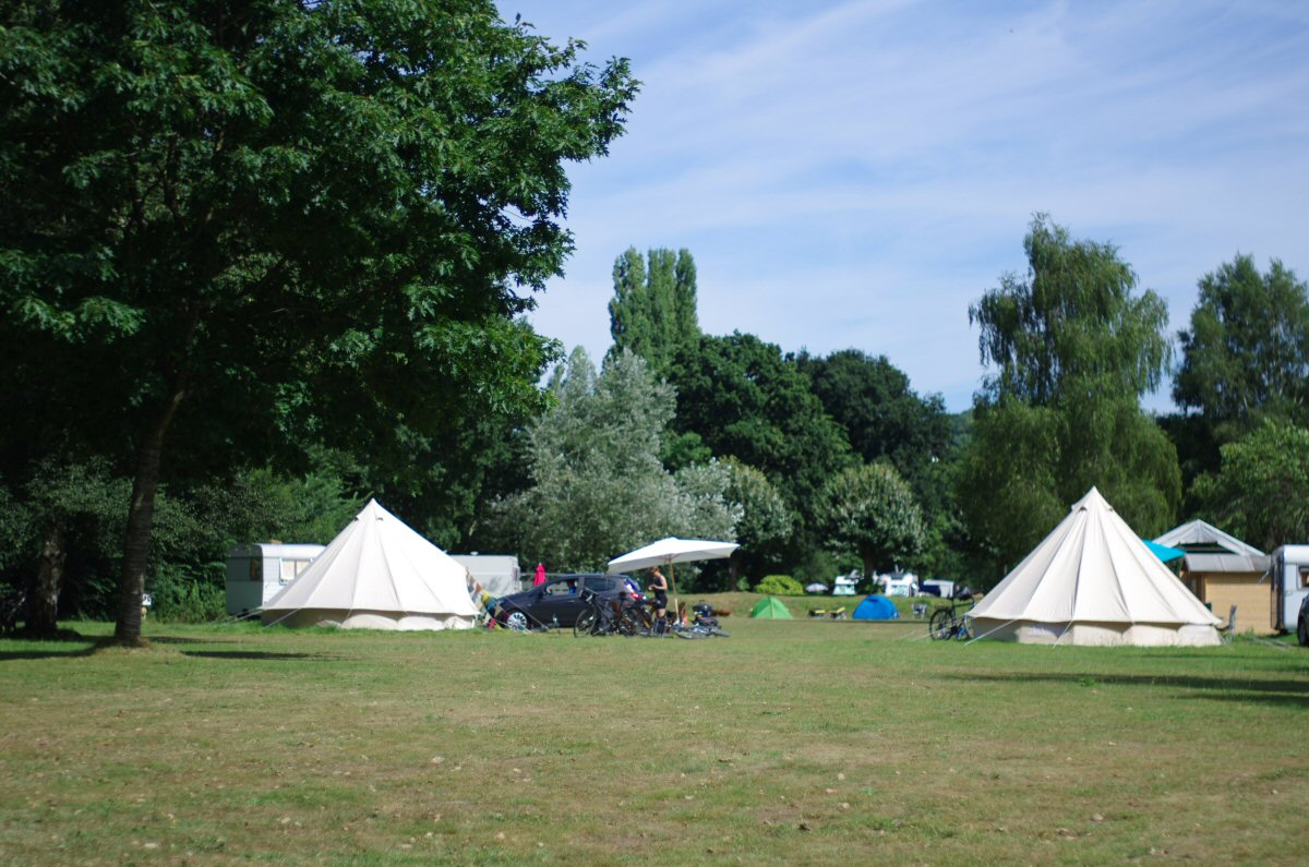 sibley tent on french campsite